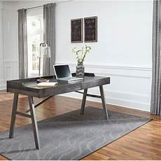 furniture desks home office raventown grayish brown home office desk