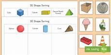 shapes worksheets in 1105 3d shape sorting activity made