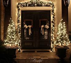 Decorations For Front Door Ideas by Porch And Front Door Garland Diy Hometalk
