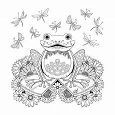 Ausmalbild Frosch Mandala Frog Artist Johanna Basford Enchanted Forest Coloring