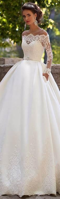 robe de mariée dentelle manches longues robe de mari 233 e milla princesse avec de la dentelle