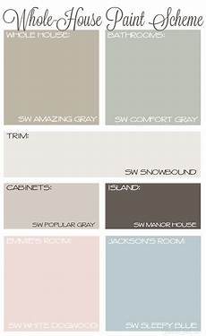 whole house paint scheme with neutral colors sherwin williams amazing gray comfort gray