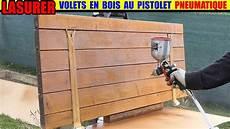 decapage volet bois au karcher lasurer un volet en bois avec un pistolet 224 peinture pneumatique parkside lidl compresseur pko