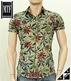 camicie fiori uomo camicia a fiori maltinta mezza manica mtf abbigliamento