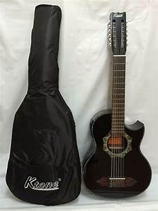 12 String Bajo Sexto Acoustic Electric Guitar With Gig