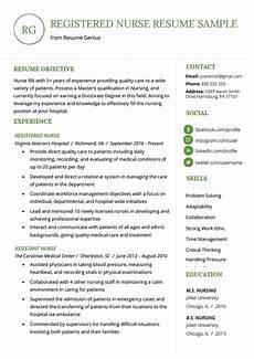 nursing resume sle writing guide resume genius