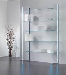 scaffali in vetro composizione in vetro libreria espositore per casa e