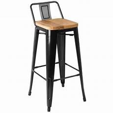 Chaise De Bar Industriel 7 Chaise De Bar En M 233 Tal Noir