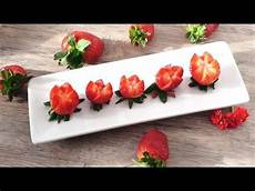 how to make strawberry flowers strawberry