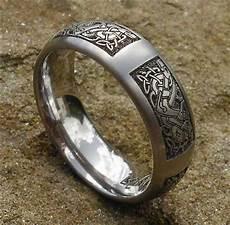 celtic animal titanium rings celtic dog ring viking norse asatru wedding pinterest