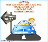 Highway To Fun Free New Car & License ECards Greeting