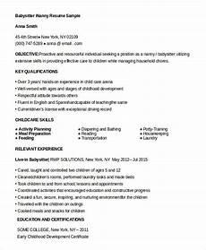 10 nanny resume templates pdf doc free premium