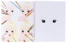 Ausmalbilder Topmodel Gesicht Topmodel 6921 Create Your Make Up Malbuch De