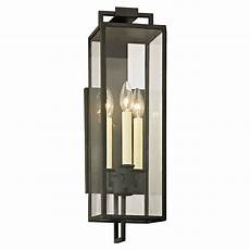 troy lighting beckham forged iron outdoor wall light b6382 destination lighting