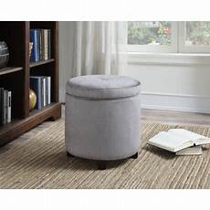 Small Grey Storage Ottoman by Ac Pacific Small Grey Fabric Storage Ottoman