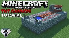 Redstone Tnt Cannon Tutorial Minecraft Pocket Edition