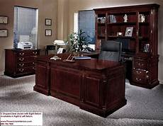cherry home office furniture executive u shaped desk with overhang cherry and walnut