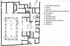 roman atrium house plan plan house of the vettii pompeii italy imperial roman