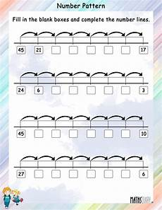 number pattern on a number line math worksheets mathsdiary