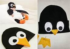 pinguin kostüm selber machen baby kost 252 m pinguin m 252 tze filz selber machen h 230 klet
