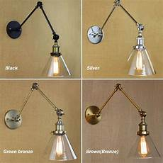 aliexpress com buy retro swing arm wall l glass shade vintage wall sconces wall