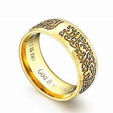 wedding ring islam gold mohammad rasool allah rings stainless steel islamic