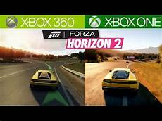 forza horizon 2 xbox 360 vs xbox one graphics
