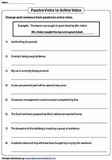 german passive worksheets 19704 passive voice to active voice active and passive voice active voice the voice
