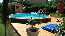 piscine bois octogonale semi enterrée piscine bois azurea piscine