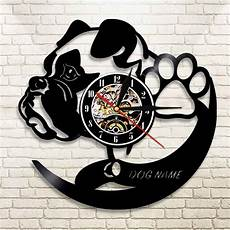 Inch Bulldog Wall Clock by 1piece Bulldog Personalized 12 Inch Vinyl Record Wall