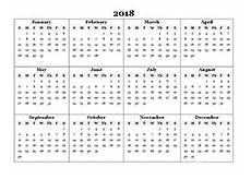 2018 Calendar Templates 2018 Monthly Yearly