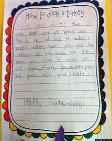 cute kid note of the day how to cook a turkey huffpost