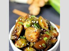 soy and sriracha glazed brussels sprouts_image