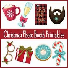 adorable printable photo booth props for christmas printables 4 mom