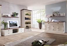 landhaus wohnzimmer set massiv wei 223 bernstein sideboard