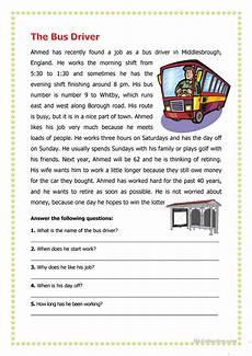 transport comprehension worksheets 15178 the driver worksheet free esl printable worksheets made by teachers