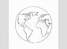 Sketch globe world map black on white     Stock vector