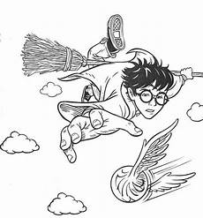 free harry potter coloring pages quidditch with images