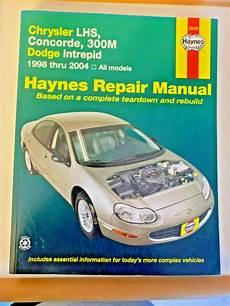 car repair manuals online free 1995 chrysler lhs instrument cluster haynes 1998 2004 chrysler lhs concorde dodge intrepid repair manual 25026 ebay