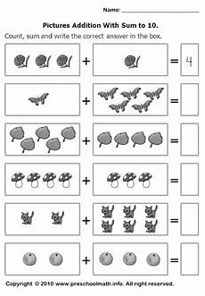maths addition worksheet for kindergarten 9339 count sum and write the correct number in the box g 246 r 252 nt 252 ler ile matematik okul 246 ncesi