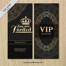 vip name card template vip luxury invitation with ornaments vector free