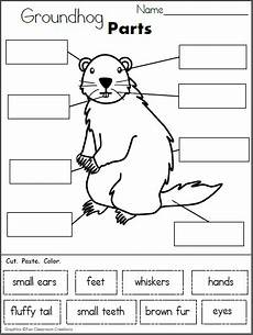 free label the groundhog worksheet cut and paste madebyteachers