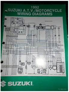 suzuki factory wire diagram atv motorcycle 1992 ebay