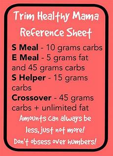 Trim Healthy Mama Food Chart 17 Best Images About Trim Healthy Mama Info On Pinterest