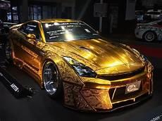 one auto one million dollar gold plated car nissan gt r x auto news