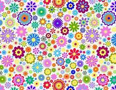 Bold Flower Power Abstract Pattern Vector Background