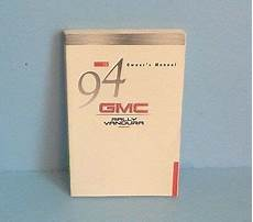 old car owners manuals 1994 gmc vandura 1500 engine control 94 1994 gmc rally van vandura van owners manual ebay