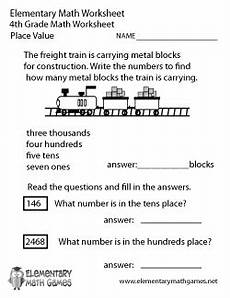 place value worksheet 4th grade 5501 fourth grade math worksheets