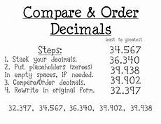 comparing and ordering decimals worksheets grade 4 7430 compare order decimals poster by classroom tpt