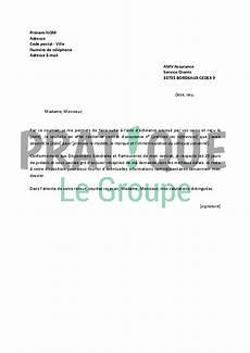 Lettre De R 233 Siliation Amv Assurance Pratique Fr
